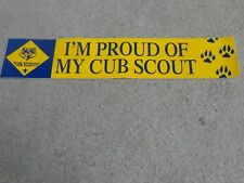 Boy Scout BSA I am Proud of My Cub Webelos Lion Wolf Bear Car Bumper Sticker