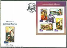 SAO TOME 2015 200th BATTLE OF WATERLOO SHEET  FIRST DAY COVER