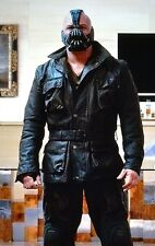 THE DARK KNIGHT RISES - BANE 100% REAL COW-HIDE BLACK LEATHER JACKET - ALL SIZES