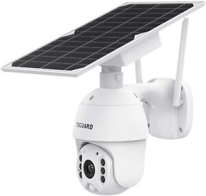 TOGUARD Wireless Security Camera Outdoor Solar Powered Battery PTZ Security Came