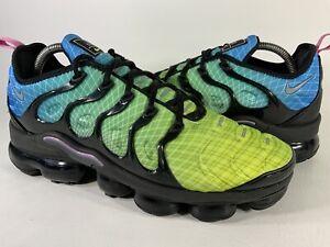 Nike Air Vapormax Plus Aurora Green Blue Black Mens Size 9.5 Rare 924453-302
