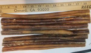 """THICK Bully Sticks 12"""" Natural Beef Chews  FREE SHIPPING!"""
