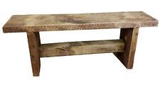 Bespoke Solid Wooden Reclaimed Handmade Bench 91cm L X 35cm H X 22cm D