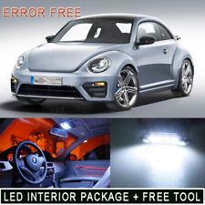 7PCS 6K White Error Free LED Light Interior Package Kit For 98-2011 VW Beetle PQ