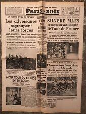 N184 La Une Du Journal Paris-soir 3 Août 1936
