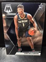 ZION WILLIAMSON 2019-20 PANINI MOSAIC BASE ROOKIE RC #209 PELICANS