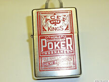 "MARLBORO ""Poker Red Aces Over King"" ZIPPO Lighter-Never Struck - 2002-RARE"
