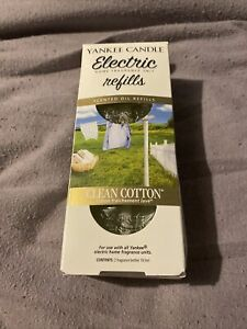 Yankee Candle Electric Scent Plug Refills Clean Cotton Pack Of Two