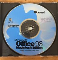 Vintage 1998 Office 98 Suite Macintosh Mac OS Edition X03-56083 Installation CD