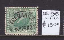 W.A.: 1/2d Green Swan Sg 138 Wmk C Over A F. Used .