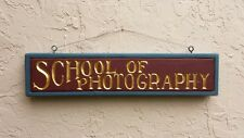 School of Photography~Photo Studio Store Trade Sign, Film Lab Advertising Plaque