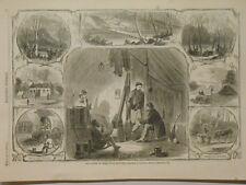 Harper's Weekly Page Civil War War Scenes @Green River Kentucky Tent Life 1862