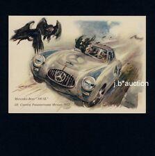 Motorsport MERCEDES-BENZ 300 SL Panamericana * LISKA-AK 1950s PC Artist Signed