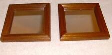 Homco Home Interiors 2 Wooden Accent Mirrors Pretty Vgc 5 1/4 x 5 1/4