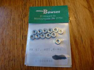 Bowser Parts #440 / PK.12_ NUT_4 40