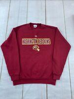 NFL Mens Washington Red Skins Long Sleeve Pullover Red Sweatshirt Size Medium
