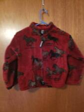 Black mountain outdoor fllece jacket Horse burgundy Childs extra large XL EUC