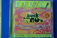 Karaoke todos a cantar Rock De Los 60's 2 music cd brand new---cd2