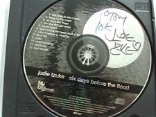 JUDIE TZUKE SIX DAYS BEFORE THE FOOD CD SIGNED AUTOGRAPH LIVE NO BARCODE