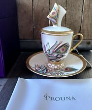 Prouna Fine Bone China Persona Demitasse with Saucer and Lid – New