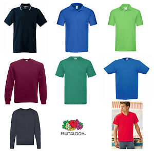 Fruit of the Loom Collection Cotton Polo Sweat T-shirt