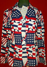 NEW TOMMY JEANS HILFIGER Patriot American Flag Blazer XL July 4th Stars Stripes