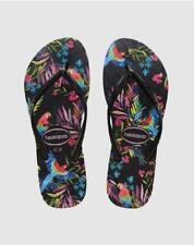 Havaianas Tropical black Women's Summer Shoes Flip Flops