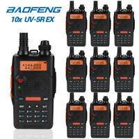 10x Baofeng UV-5R EX 2m/70cm Band V/UHF Two Way Radio CTCSS/DCS FM Transceiver