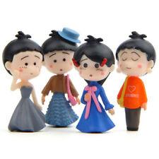 4Pcs/Set Cute Fairy Garden Miniature Girls DIY Micro Landscape Ornament Decor UK