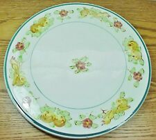 "Signed 12"" Japanese Ceramic/China Cake Plate Platter - Fruit Flowers & Birds Wow"