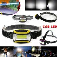 WATERPROOF COB Headlamp LED 2000LM Headlight AAA Torch HeadLamp