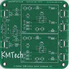 2 canales 2 vías Crossover Activo 12dB/octava Filtro KMTech Pack de cinco PCB