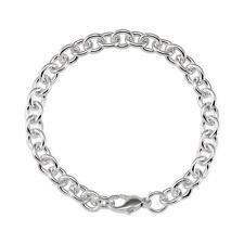 Sterling Silver 7.75 MM Men's Cable Bracelet