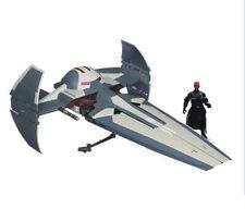 STAR WARS  SITH INFILTRATOR FIGHTER ship vehicle & Darth Maul figure NICE SET