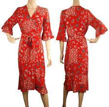 Beautiful ConMiGo A00101R flora wrap dress - red