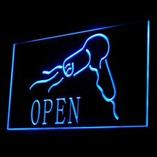 160022 OPEN Hair Saloon Shampoo Hair Coloring Hairdresser Modern LED Light Sign