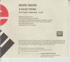 Mark Snow: X-Files Theme: R.H. Factor Radio Edit PROMO MUSIC AUDIO CD PRCD 1158