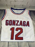 John Stockton #12 Gonzaga Bulldogs White Basketball Jersey STITCHED Size MEDIUM