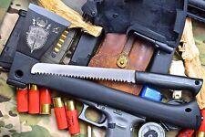 CFK iPak Custom CNC Stainless Tomahawk Axe Fire Starter & Hidden Saw Blade Knife
