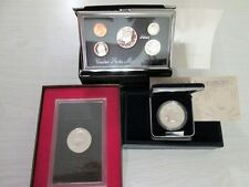 New listing Lot of Two Silver Dollars and One U.S. Premier Silver Proof Set