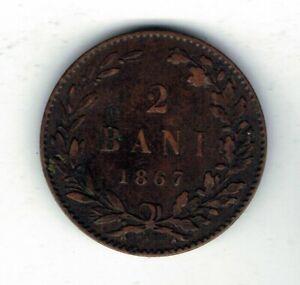 1867 Romania 2 bani coin
