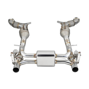 Ferrari 488 Stainless Steel Valved Exhaust with High Flow Catalytic Converters