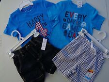 NEW! Lot of 4 Place & Jumping beans t-shirt Old Navy Shorts size 12 - 18 M Boys