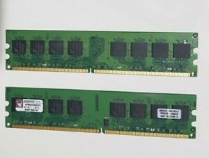 2 x Kingston KVR800D2N5K2/2G ☆PC2-6400 (DDR2-800) ☆ DDR2 SDRAM ☆ 800 MHz ☆ 2x1GB