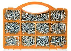 Brackit 545 Piece Pozi Drive Self-Tapping & Wood Screws Assortment Set In Case