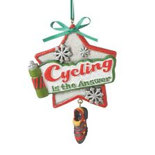 2017 Cycling Bicyclist Spinning Biker Christmas Ornament Holiday Gift 115143