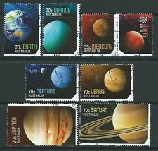 AUSTRALIA 2015 OUR SOLAR SYSTEM SET OF 8 FINE USED