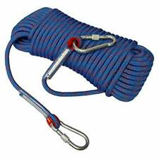 """Climbing Rope Static Rappelling Rope, Tree With Carabiner - 10 Mm X 49 Feet, """""""