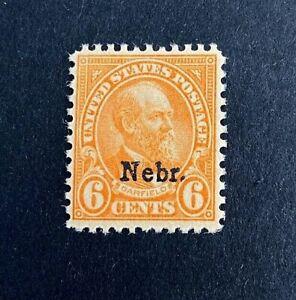 US Stamp, Scott #675 6c 1929 Garfield Nebr. overprint VF/XF  M/NH. Beautiful gum