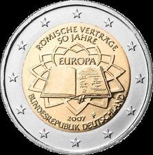 Germania   2€ 2007 Trattato di Roma ToR  FDC zecca J